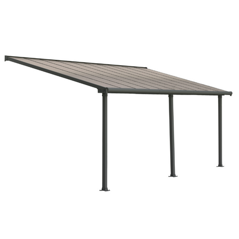 Image of Palram HG8820 Olympia 10' x 20' Patio Cover - Gray/Bronze