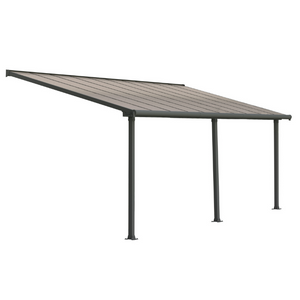 Palram HG8820 Olympia 10' x 20' Patio Cover - Gray/Bronze