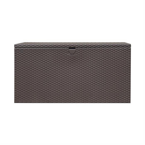 Image of Arrow DBBWES Spacemaker® Deck Box, Basket Weave, Espresso