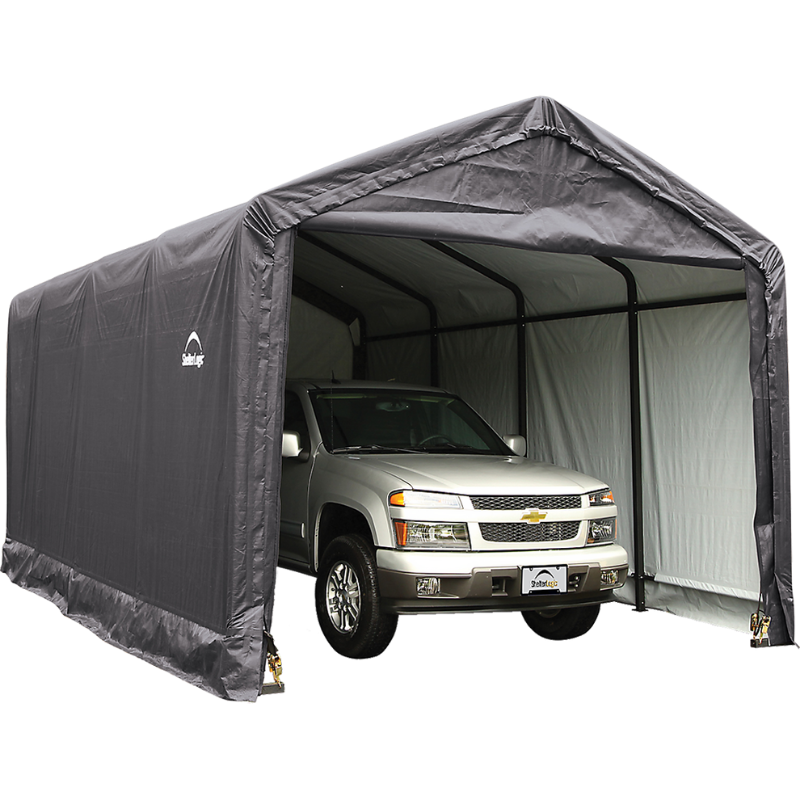 ShelterLogic 62805 12x20x11 ShelterTUBE Storage Shelter, Grey Cover
