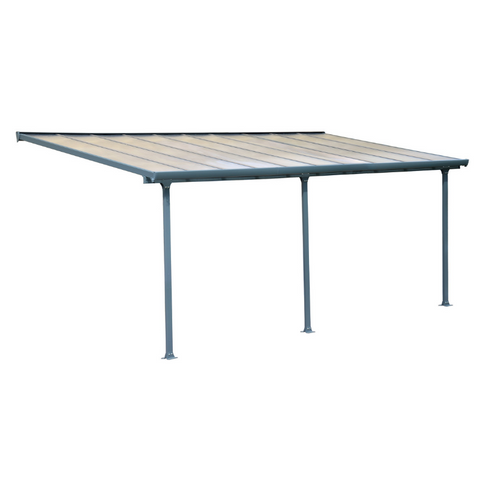 Image of Palram Feria 10' x 28' Patio Cover - Gray - HG9428