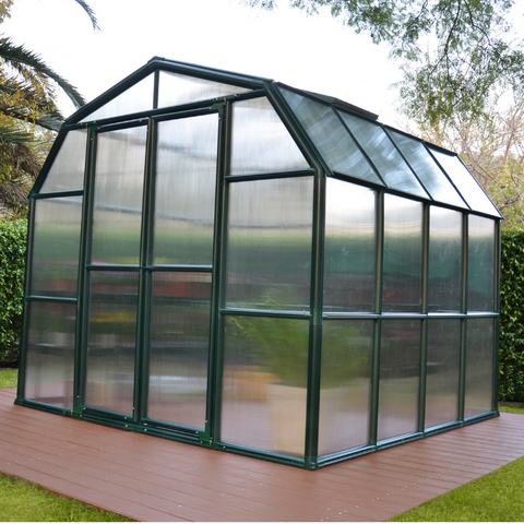 Image of Palram Rion Grand Gardener 8' x 8' Greenhouse HG7208- Twin Wall