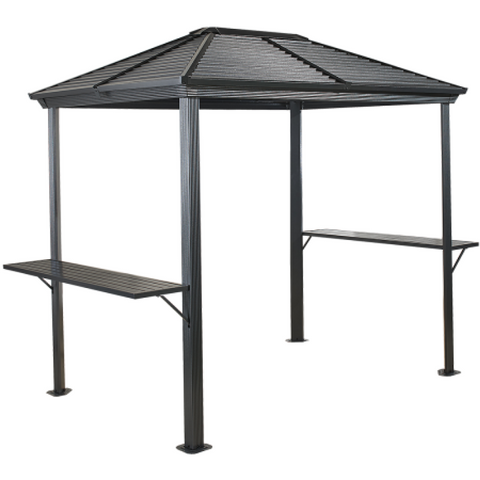 Image of Sojag 500-8162967 BBQ VENTURA #93D gazebo 5'x8' steel roof