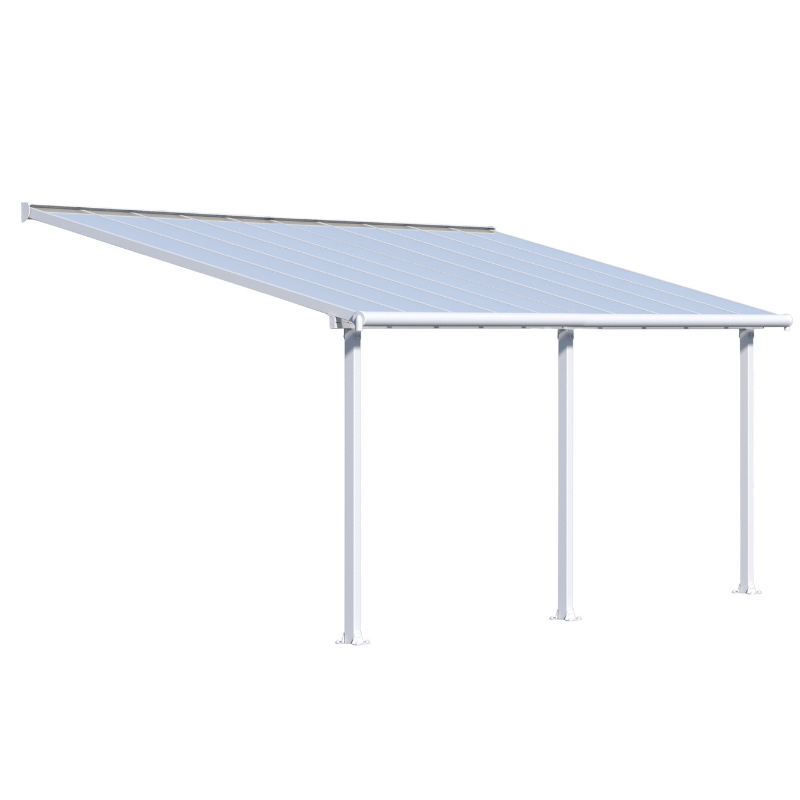 Palram Olympia 10' x 20' Patio Cover - White/White - HG8820W