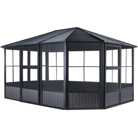 Image of Sojag 448-9163018 CHARLESTON #93D Solarium 12'x18' st roof