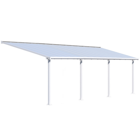 Image of Palram HG8830W Olympia 10' x 30' Patio Cover - White/white