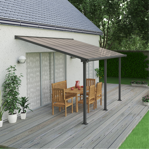 Palram Olympia 10' x 14' Patio Cover - Gray/Bronze HG8814