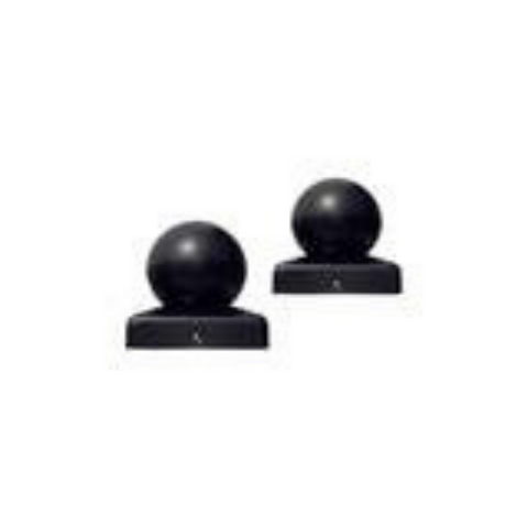 Aleko Small Cap for Driveway Gate Post 1.7 x 1.7 Inches Black Lot of 2 2SMALLCAP-AP
