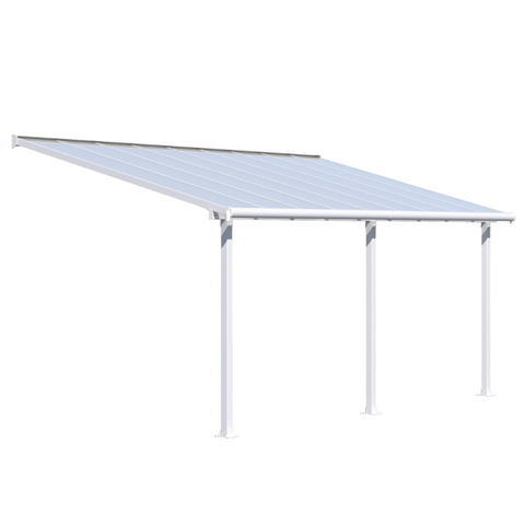 Image of Palram HG8818W Olympia 10' x 18' Patio Cover - White/White