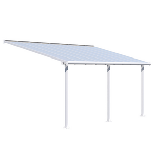Palram HG8818W Olympia 10' x 18' Patio Cover - White/White