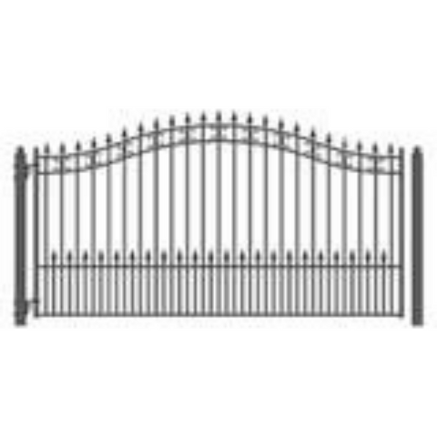 Aleko Steel Single Swing Driveway Gate St.Petersburg Style 12 x 6 ft DG12SPTSSW-AP