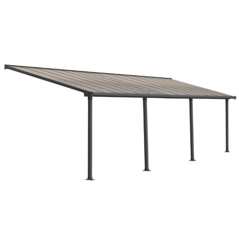 Image of Palram Olympia 10' x 28' Patio Cover - Gray/Bronze - HG8828