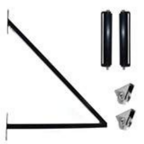 Aleko Sliding Gate Hardware Kit with Extension Bracket SLIDEKIT-AP