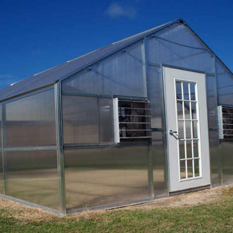 RSI R12248-P Whitney 12FT x 24FT Educational Greenhouse Kit With 8FT High Walls