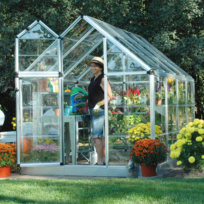 Palram Snap & Grow 6' x 8' Greenhouse - Silver - HG6008