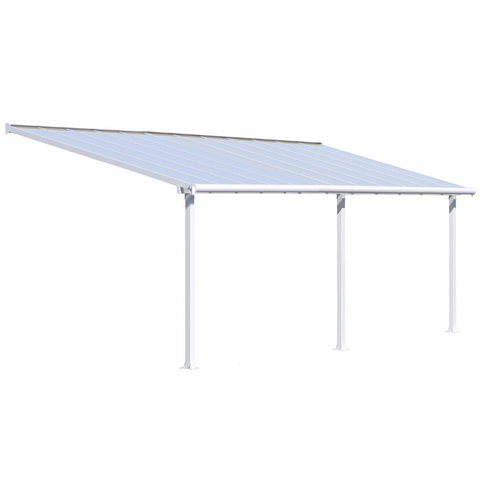 Image of Palram Olympia 10' x 24' Patio Cover - White/White - HG8824W