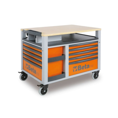 Beta Tools C28-O-SUPERTANK TROLLEY 10 DRAW ORANGE
