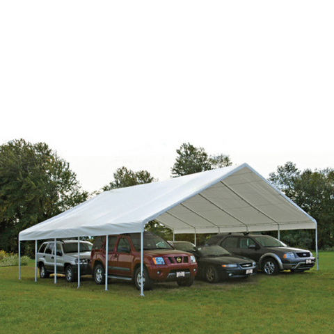 "Image of ShelterLogic 27773 30x40 Canopy, 2-3/8"" Frame, White Cover, FR Rated"