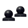 Aleko Medium Cap for Driveway Gate Post 2.5 x 2.5 Inches Black Lot of 2 2MEDIUMCAP-AP