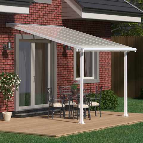 Image of Palram HG8814W Olympia 10' x 14' Patio Cover - White/White