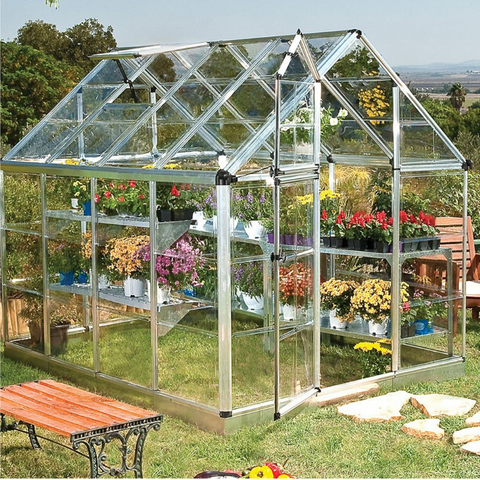 Image of Palram Snap & Grow 6' x 8' Greenhouse - Silver - HG6008