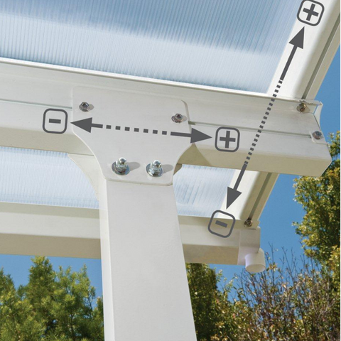 Palram Feria 10' x 28' Patio Cover - White - HG9328