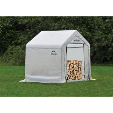 "Image of ShelterLogic 90395 5 x 3'6"" x 5 Seasoning Shed; 5.5oz Clear PE Cover"