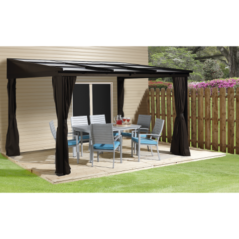 Image of Sojag 500-9165371 SUTTON #53 Wall Gazebo 10'x12' RETR. PC