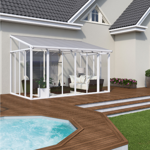 Palram SanRemo 13' x 14' Patio Enclosure - White - HG9062