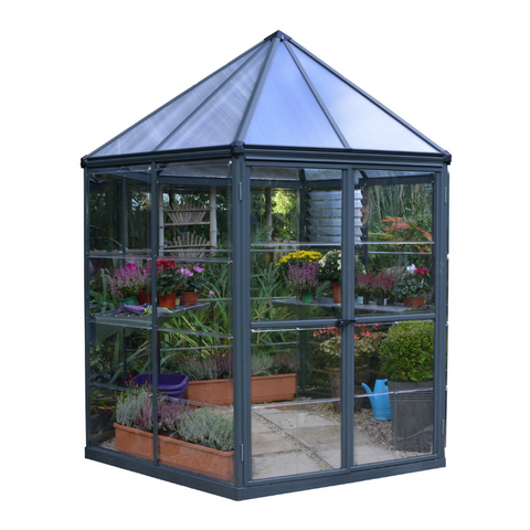 Image of Palram Oasis Hex 7' x 8' Greenhouse - HG6000