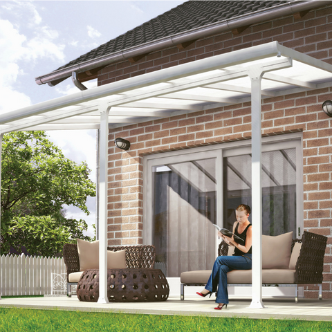 Palram Feria 10' x 30' Patio Cover - White - HG9330
