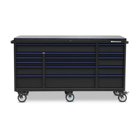 "Image of Montezuma BKM722416TC 72"" X 24"" 16-Drawer Roller Cabinet"