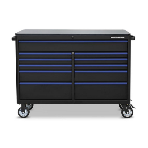 "Image of Montezuma BKM562411TC 56"" X 24"" 11-Drawer Roller Cabinet"
