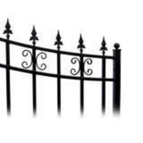 Aleko Steel Single Swing Driveway Gate St.Petersburg 18 x 6 Ft DG18SPTSSW-AP