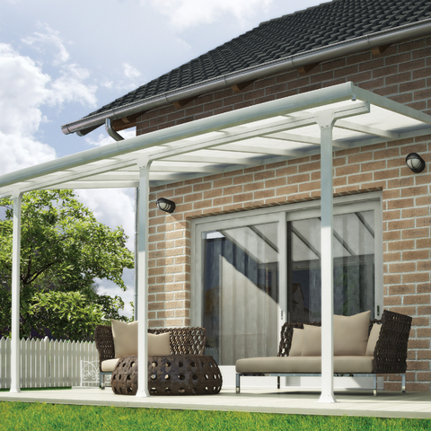 Image of Palram HG9234 Feria 13' x 34' Patio Cover - White