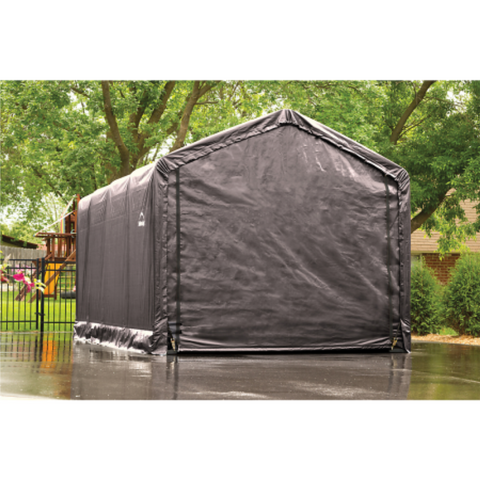 Image of ShelterLogic 62805 12x20x11 ShelterTUBE Storage Shelter, Grey Cover