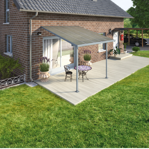 Palram Feria 10' x 10' Patio Cover - Gray - HG9410