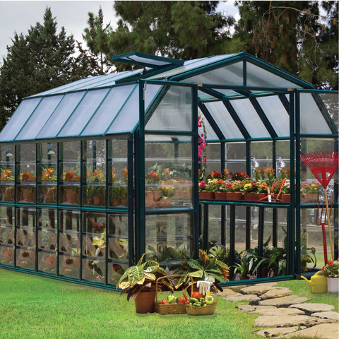 Image of Palram Rion Grand Gardener 8' x 12' Greenhouse HG7212C- Clear