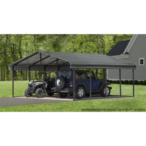 Image of Arrow CPHC202907 CARPORT 20X29X07 CHARCOAL