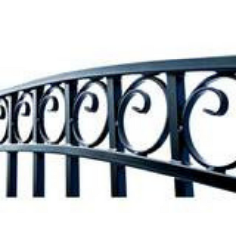 Aleko Steel Single Swing Driveway Gate Dublin Style 18 x 6 ft DG18DUBSSW-AP