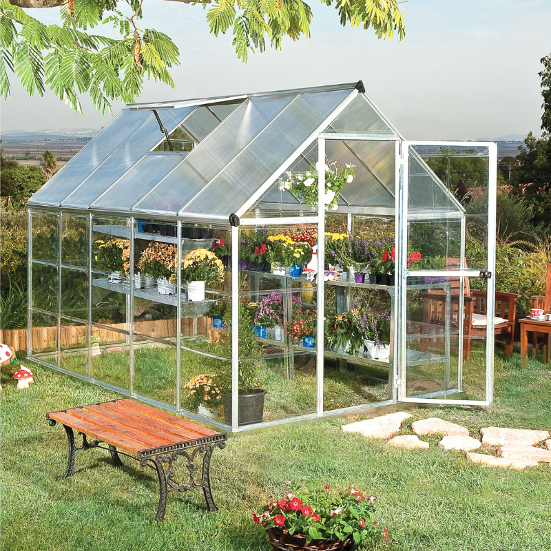 Palram Hybrid 6' x 10' Greenhouse Nature Series - Silver - HG5510