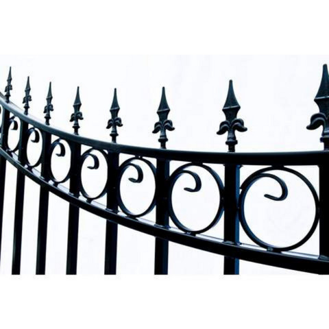 Image of Aleko Steel Dual Swing Driveway Gate Moscow Style 12 x 6 ft DG12MOSD-AP