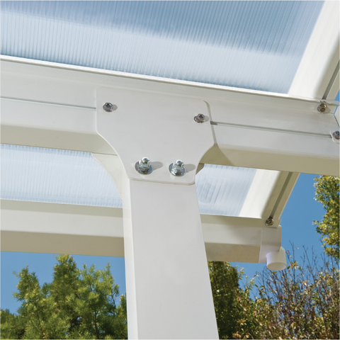 Image of Palram Feria 10' x 24' Patio Cover - White - HG9324