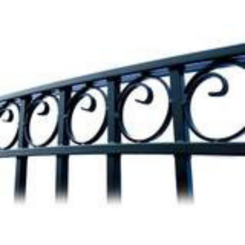Aleko Steel Single Swing Driveway Gate Paris Style 18 x 6 ft DG18PARSSW-AP