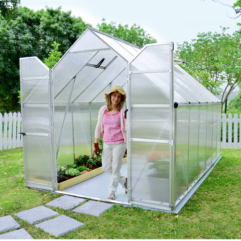 Image of Palram HG5812 Essence 8' x 12' Greenhouse Nature Series
