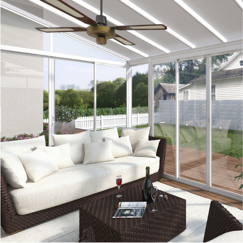 Image of Palram SanRemo 13' x 14' Patio Enclosure - White - HG9062