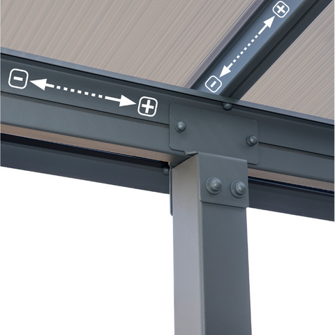 Image of Palram Olympia 10' x 30' Patio Cover - Gray/Bronze - HG8830