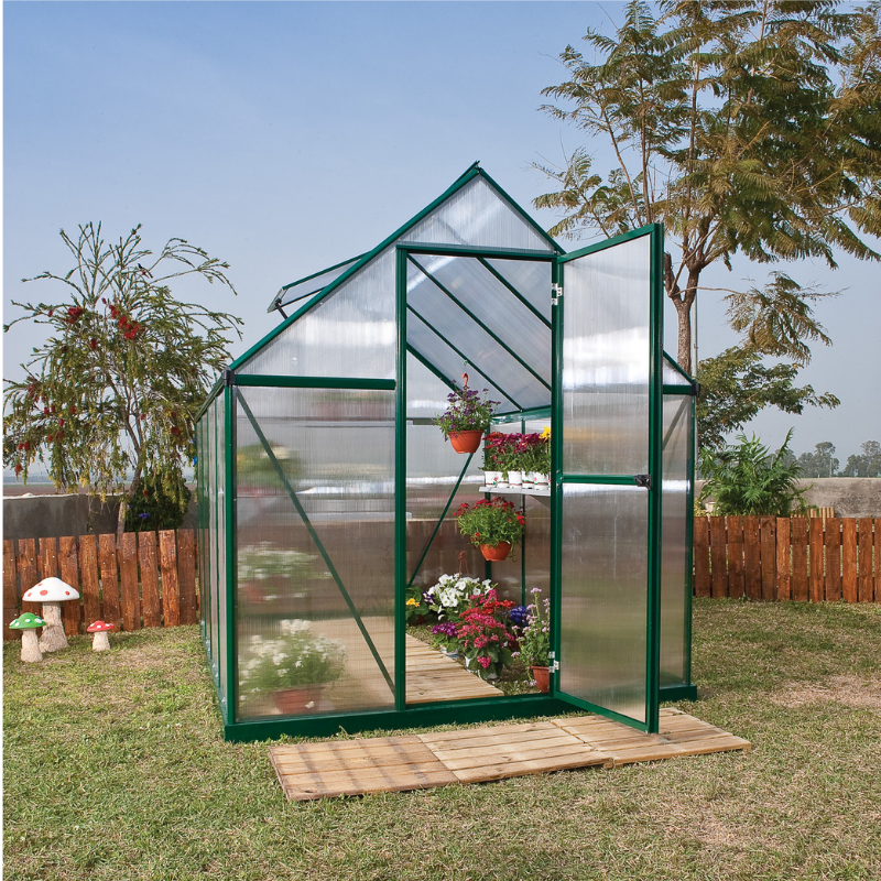Palram Mythos 6' x 8' Greenhouse Natures Series - Green - HG5008G