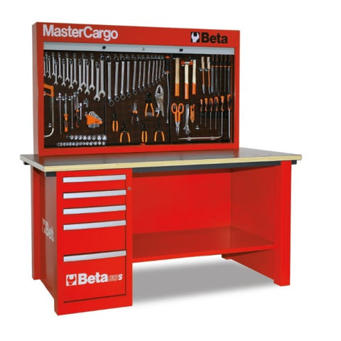 Beta Tools C57S/A-R-MASTERCARGO WORKBENCH RED