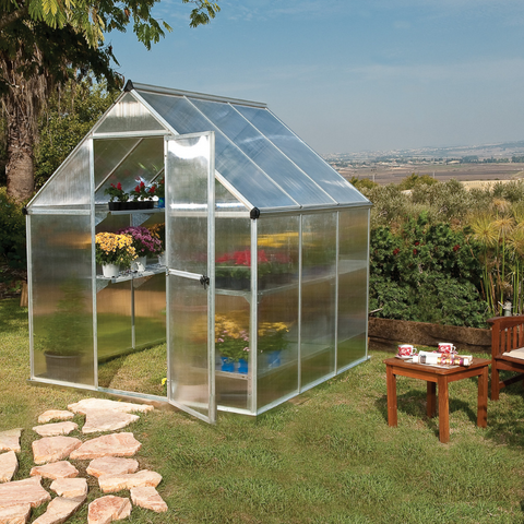 Image of Palram Mythos 6' x 6' Greenhouse Nature Series - Silver - HG5006